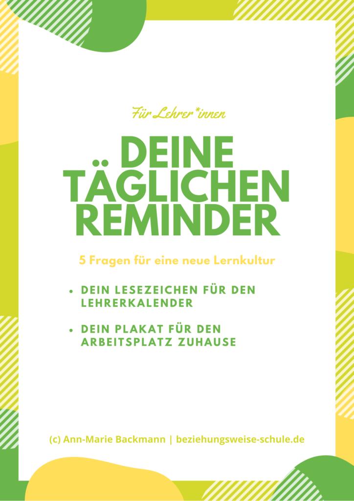 Deine täglichen Reminder