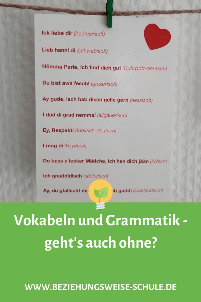 Vokabeln und Grammatik- geht's auch ohne?