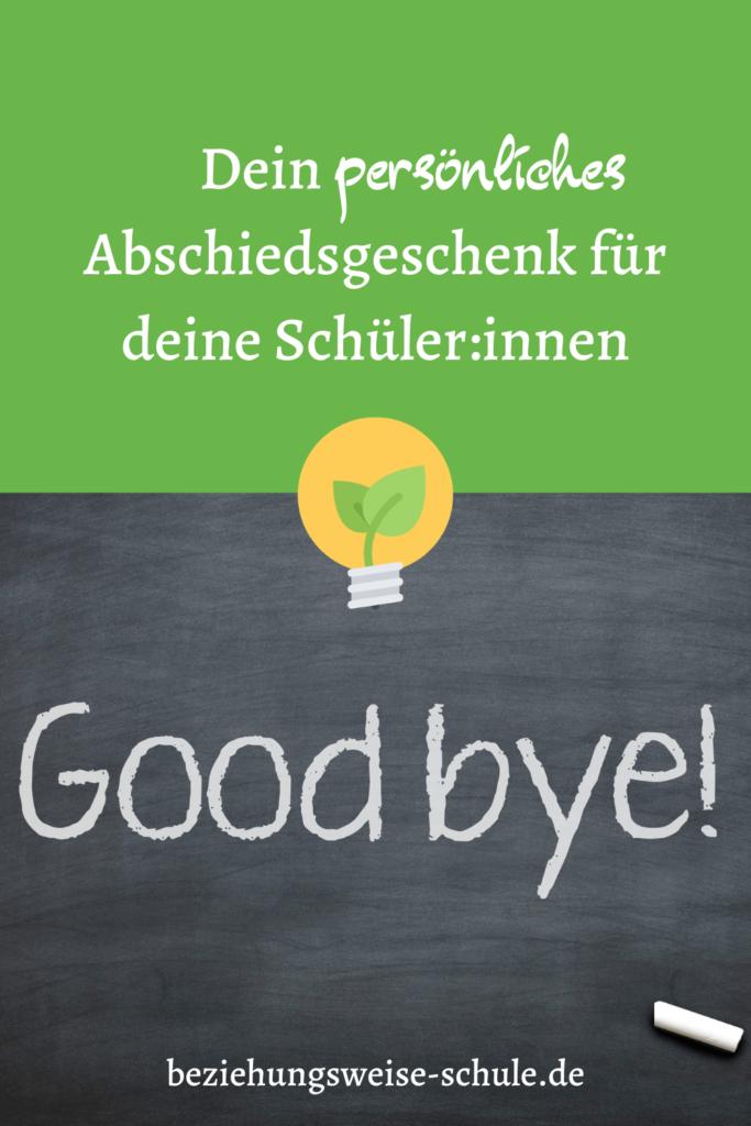 Dein persönliches Abschiedsgeschenk für deine Schüler:innen